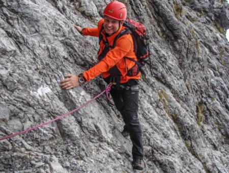 Watzmann Ostwand mit Bergführer