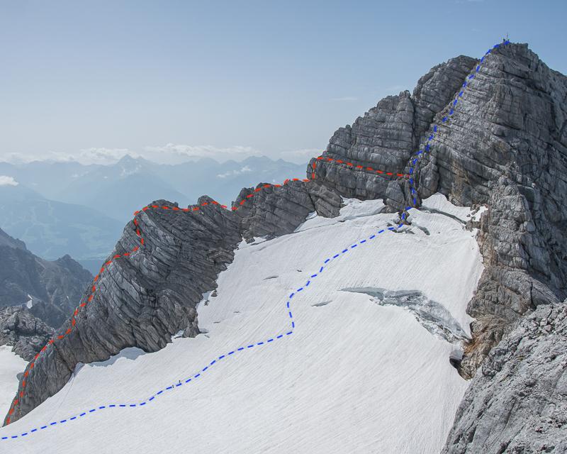 Niederer Dacchstein Nordwest Grat_ Nordwestgrat_mit Bergführer_Alpinschule_Bergpuls_©René_Guhl8