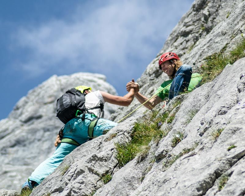 Klettern Bergführer Gesäuse Alpinschule Bergpuls