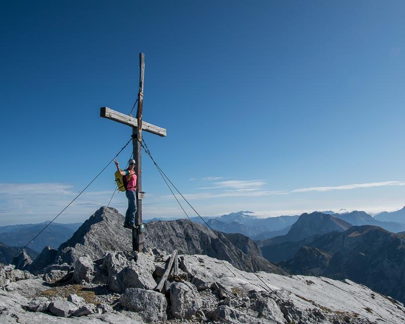 Kirchengrat, Gorßer Ödstein mit Bergführer_Alpinschule_Bergpuls_Gesäuse10