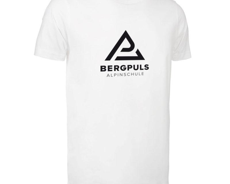 Herren T-Shirt Bergpuls Weiß Vorderseite